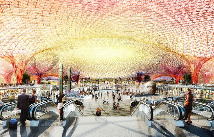 Romero and Foster + Partners' design for the Mexico City International Airport features a steel lattice canopy. - Meet The Booming Design Practice That's Transforming Mexico City