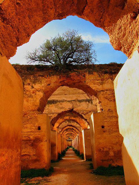 Ancient doorway arches..