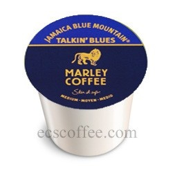Marley Coffee Jamaican Blue Mountain Real Cup for Kuerig.   I just ordered mine on amazon.com and it should be here by Sat. I cannot wait! Love it.