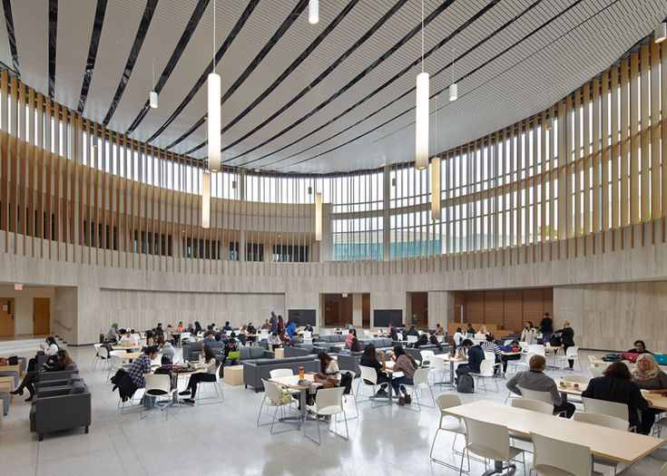 Courtyard becomes rotunda in Toronto university building