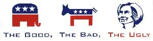 ANTI-HILLARY  BUMPER  STICKERS  BANNED  @  CALIFORNIA  GOP  CONVENTION...
