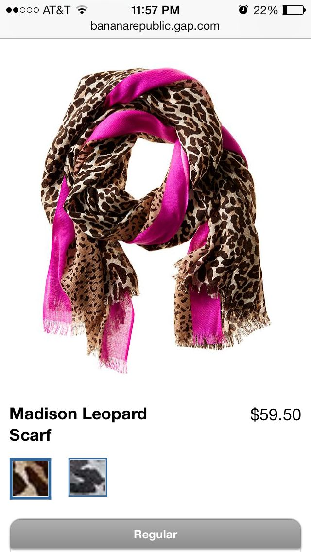 Leopard/pink scarf from Banana Republic- Happy Chanukah to me :)