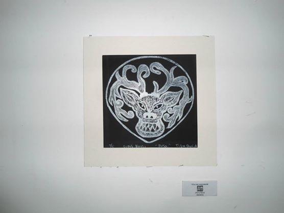 rusa-k, woodcut on paper 2013
