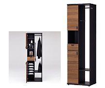 オールインワンキャビネット  スーツにワイシャツ、バッグ類まで。 #玄関収納 #リビング収納 #寝室収納