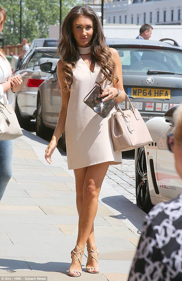 Female boss: Megan McKenna had her business head on as she arrived for a sample meeting at the Kings Cross Hotel on Monday
