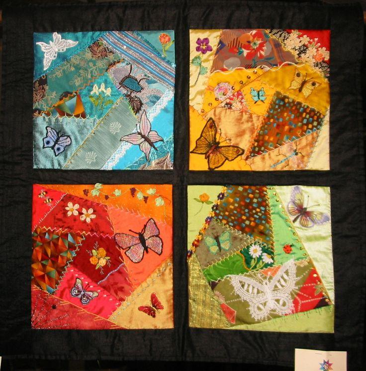 #MARIA GRAZIA TOPAI#Voli di fantasia #Crazy quilt# ha partecipato al concorso a Rossano