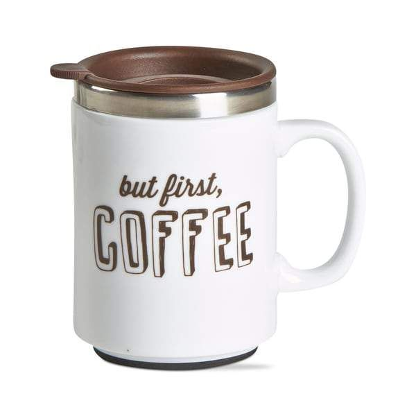 TAG Coffee First Insulated Travel Mug