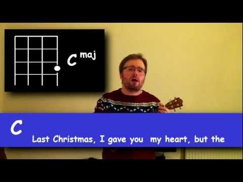 ▶ How To Play Three Easy Christmas Songs on The Ukulele (Last Christmas by Wham, Santa Claus is Coming To Town, Jingle Bells)