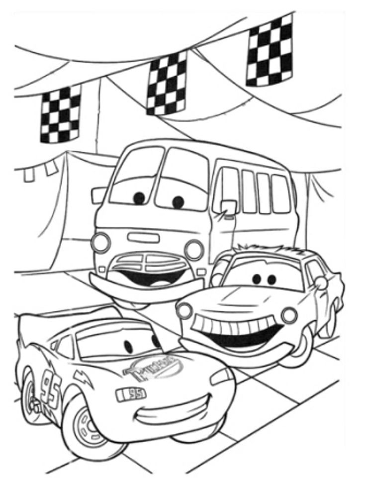 Find This Pin And More On Cars Party Disney Lightning McQueen Rusteeze Guys Coloring Pages