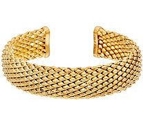 Bronze Faceted Cuff Bracelet by Bronzo Italia - J328922