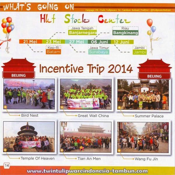 Incentive Trip Twin #Tulipware 2014, Beijing China, HUT Stock Center