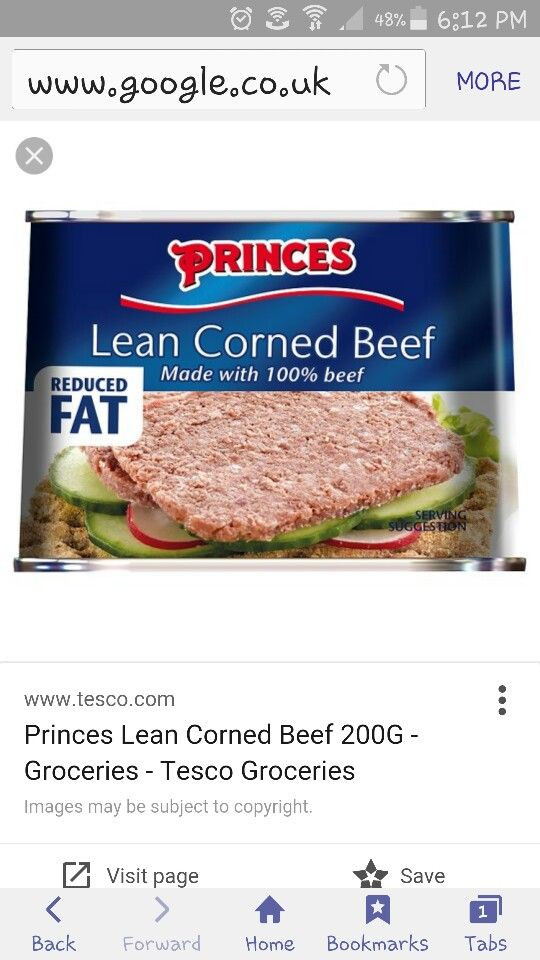 Princes Lean Corned Beef 1 5 Syns Per 100g