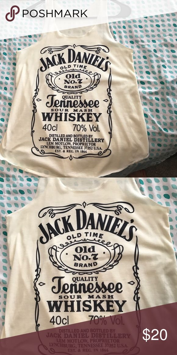 Jack Daniels Tank Top Brand new, never worn. Super cute and very comfy. Off white/beige. Could fit small or medium. none Tops Tank Tops