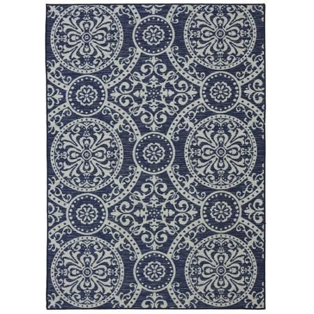 If I go with blues this is the rug. Mohawk Home Decorative Indigo Printed Area Rug, Navy
