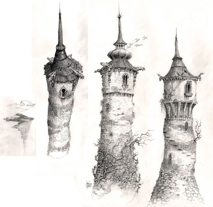 """The Brothers Grimm"" 2005 tower concept art"