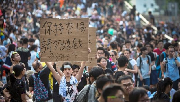 Pro-democracy protesters target office of Hong Kong's chief executive