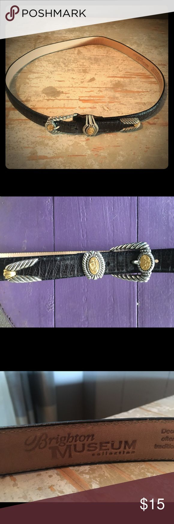 Brighton belt Black with silver and gold Brighton Museum belt. Brighton Accessories Belts