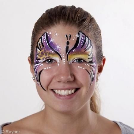 Plantilla de maquillaje Paint me - Mariposa - Fotografía n°2