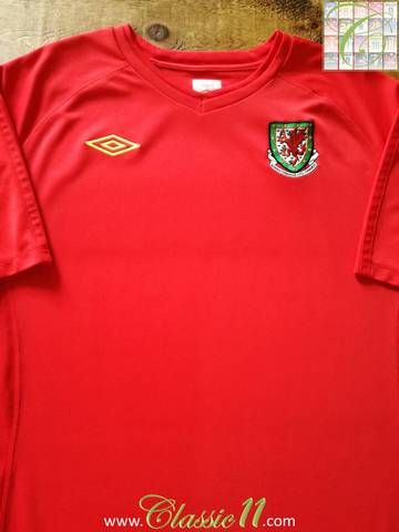 Official Umbro Wales home football shirt from the 2010/11 international season.