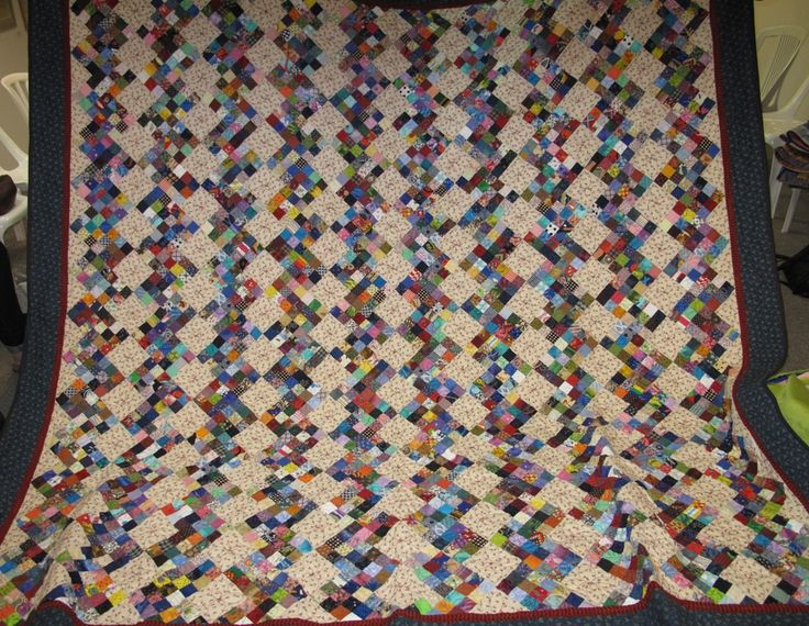 Marlyn's record breaking thousands of squares quilt