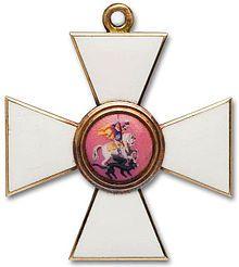 L'Uovo dell'Ordine di San Giorgio celebra la Medaglia di San Giorgio di quarta classe, da indossare con nastro, conferita il 17 ottobre 1915 allo Zarevič Aleksej Nikolaevič e la Croce di quarta classe dell'Ordine Imperiale di San Giorgio della quale il 25 ottobre 1915 era stato insignito lo zar Nicola II, nella sua qualità di comandante supremo delle forze russe, su raccomandazione del maggior generale principe Anatolij Bariatinskii.
