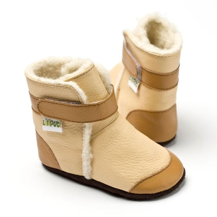 Liliputi® soft soled booties Antarctic Beige   Liliputi baby shop  #babybooties #liliputi #soft