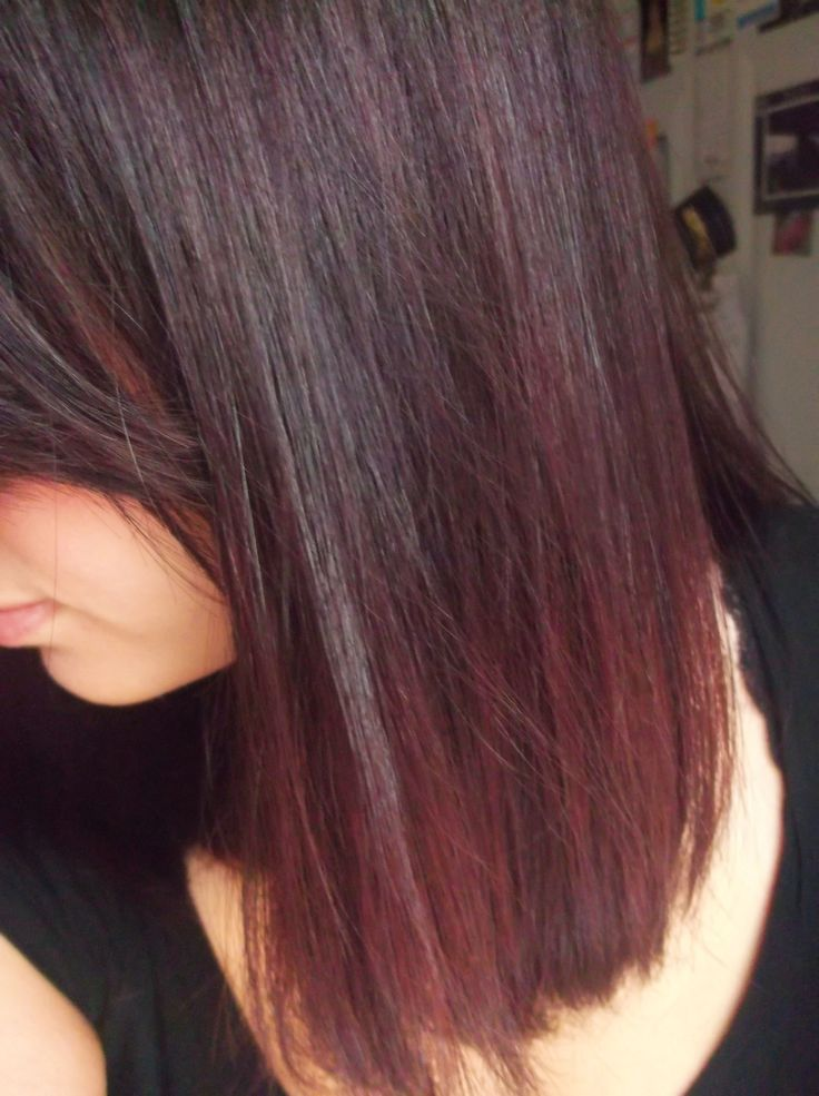 """Black cherry"""" hair -used Garnier Nutrisse Color Foam 3UR (deep ultra ..."""