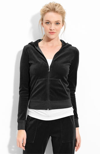 Juicy Couture Velour Zip Hoody available at #Nordstrom