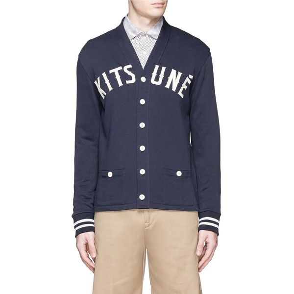 Maison Kitsuné Logo appliqué cotton fleece cardigan (4.515 ARS ...
