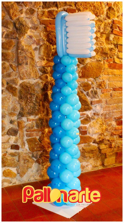 balloons toothbrush cepillo de dientes con globos spazzolino da denti con palloncini