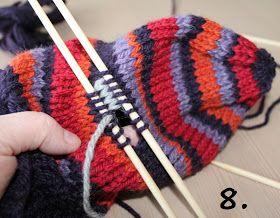 Hjerte GO`H Design: Hvordan strikke tommel på vott; en step by step forklaring