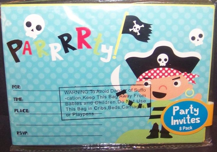 Pirate Birthday Party Invitations 8 Count  #Unbranded #BirthdayChild