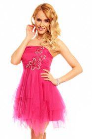 Šaty na ples růžové