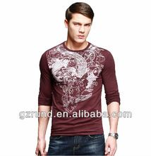 Men's long-sleeved T-shirt male animal print tattoo t-shirt men's spring fashion personality latest mens t-shirt cotton spandex  best buy follow this link http://shopingayo.space