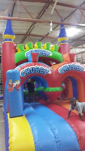 Chubby castle for the kids. A day of fun.