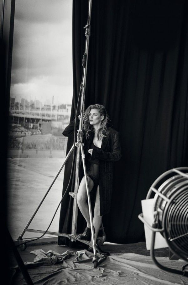 Kate Moss unphotoshopped by Peter Lindbergh for Vogue Italia January 2015