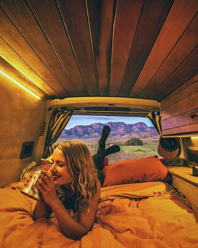 The Flinders Ranges sure do make a nice backdrop for the night  #vanlifediaries // Photo by @mitch.cox