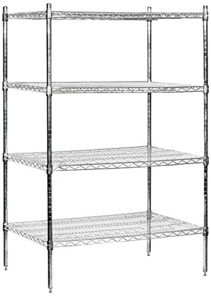 Wire Shelving Stationary 36 Shelving Wide Wire Inch 36 Deep Chrome Shelves Unit Shelf Storage Units Amaz In 2020 Wire Shelving Units Wire Shelving Shelving Unit