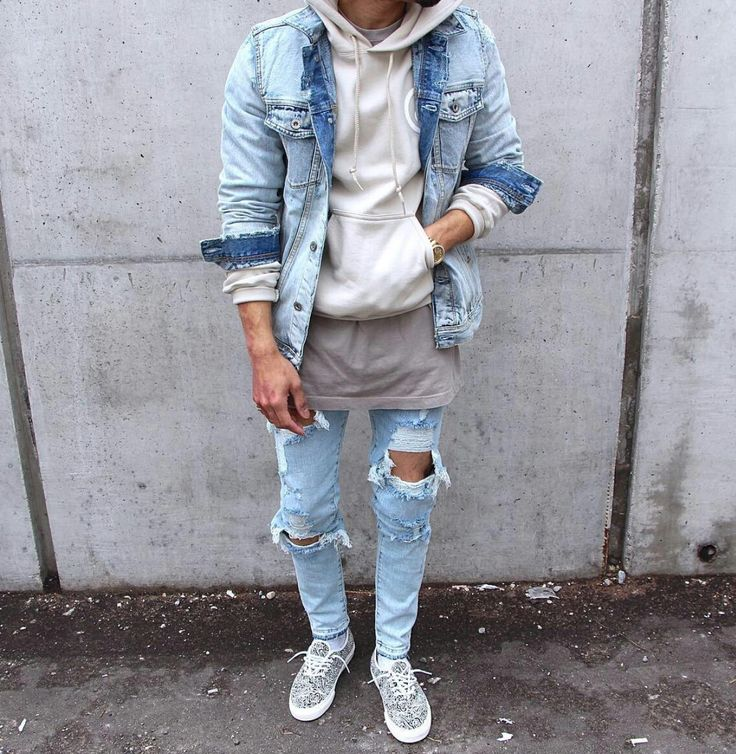 Light denim with shades of grey