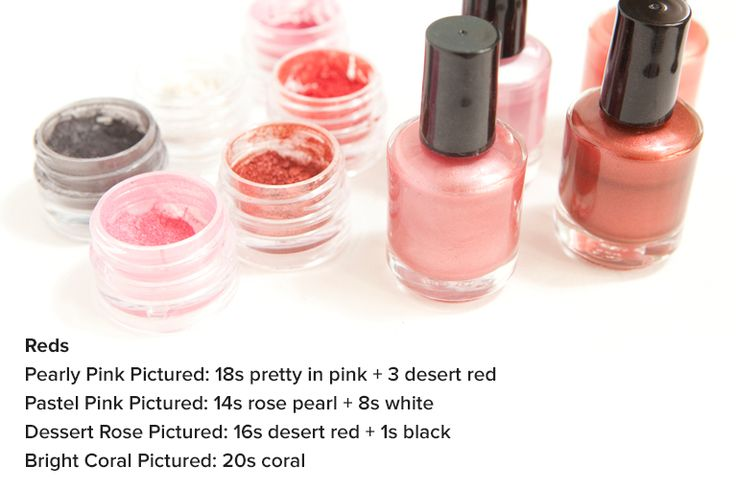 how to make your own nail polish without eyeshadow