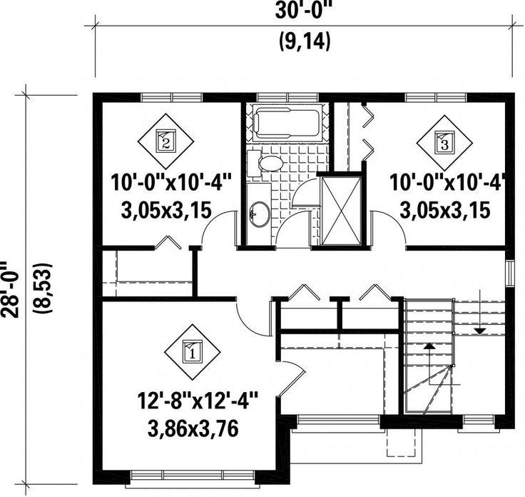 Charming Voici Un Bel Exemple Du0027une Maison à étage Idéale Pour Une Famille Avec Une  Surface Habitable De 1 552 Pieds Carrés. Coquette Et Contemporaine, Elle  Mesure ...