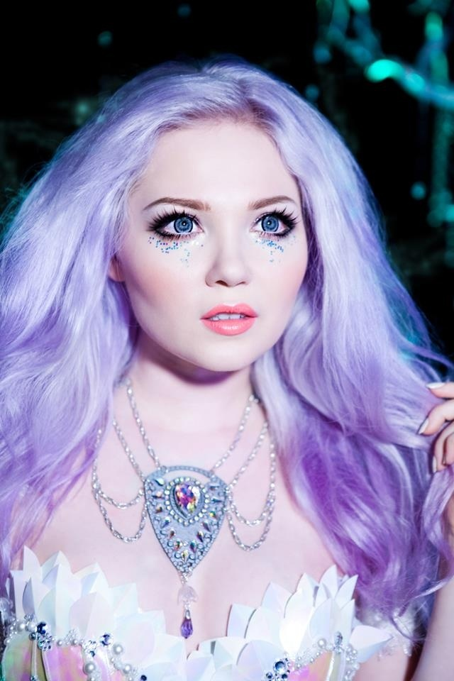 Cute pastel lavender hair