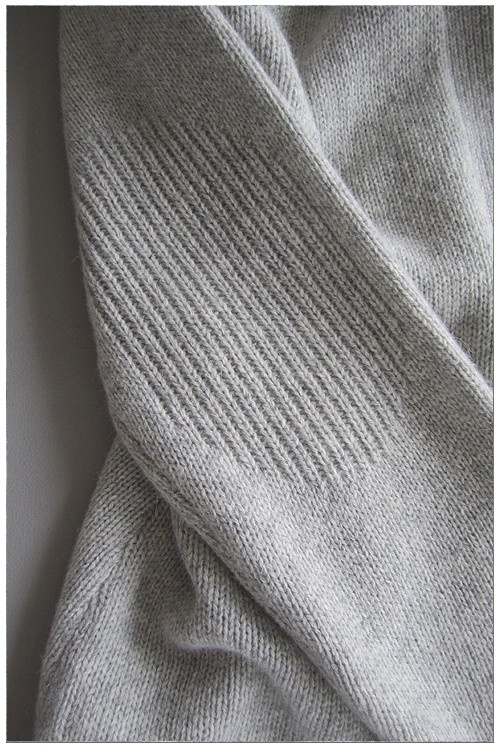 Elbow Patches! Detail of knitted Open Cardigan by measyou