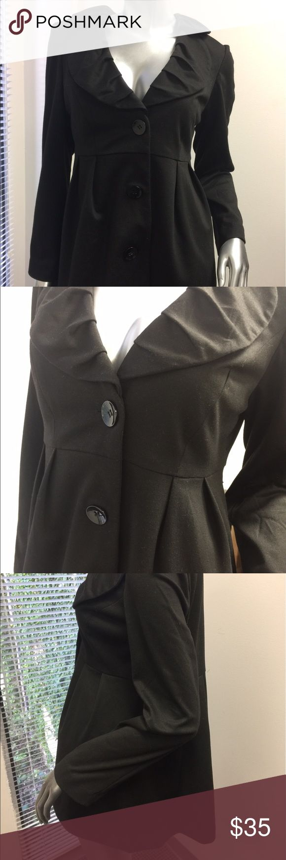 Marina luna black lined jacket The Absolute Jacket... it's the one that goes with absolutely everything!   Ruffles, pleats, buttons that bring fun fashion to any wardrobe! Jackets & Coats Blazers