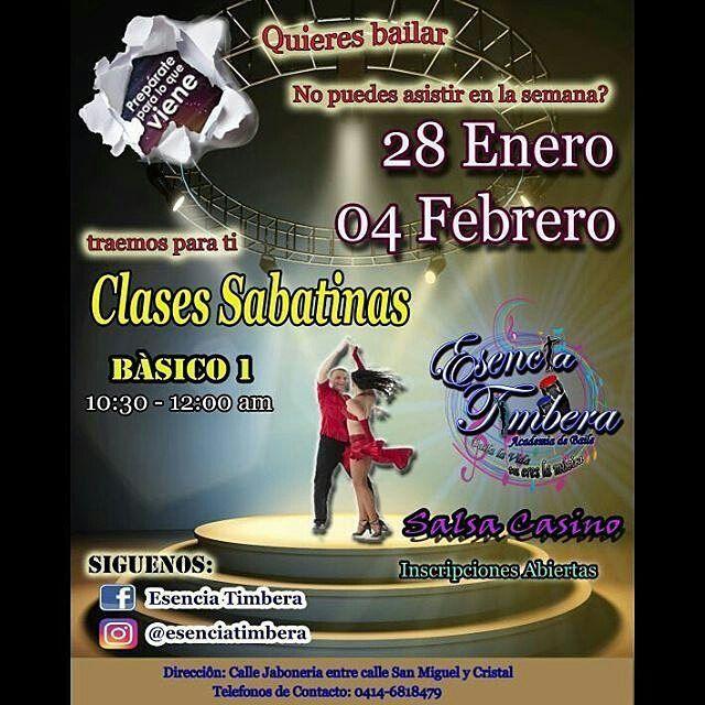 #Falcon #Coro @esenciatimbera --- HOY... LLEGO EL DIA Quieres aprender a bailar Salsa Casino pero estas full los días de semana? Tenemos para ti clases SABATINAS  INSCRIPCIONES ABIERTAS HOY 28 de Enero a las 10y30am.  Te esperamos en la calle Jabonería entre calle cristal y calle san Miguel. Detrás del mercado nuevo Antiguo Falcón power  #EsenciaTimbera #bailalavidatuereslamusica #salsacasinos #salsacasinovenezuela #casinerosdevenezuela #inscripcionesabiertas #sabatinos - #regrann