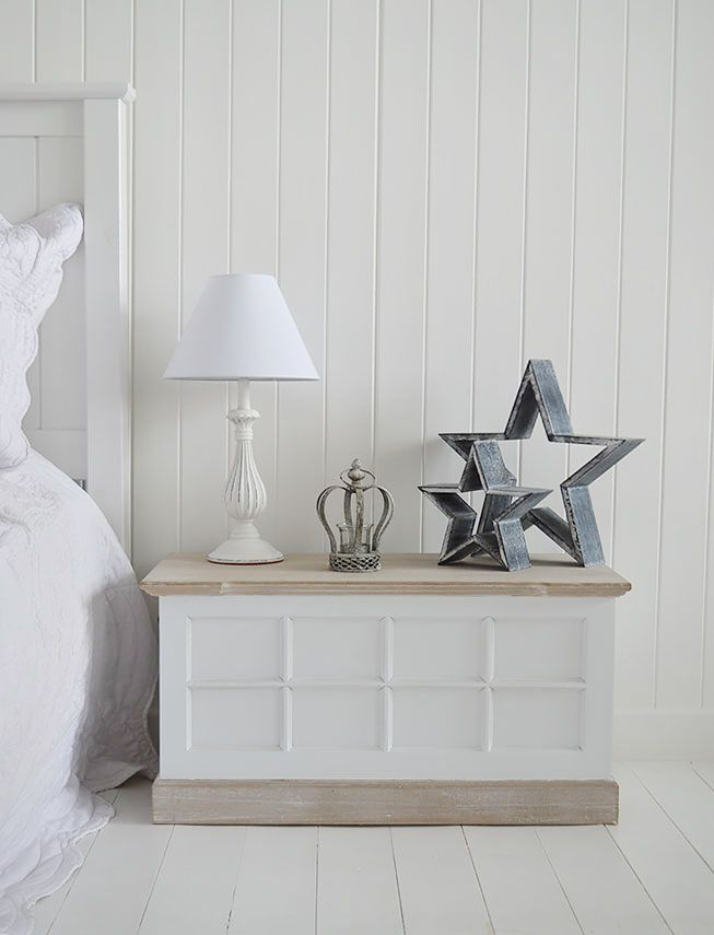 Vermont White Bedside Table For White Bedroom Furniture