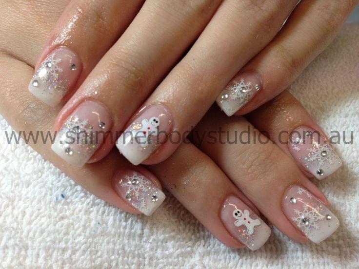 ... Nails, Gel Nails, Snowflakes Nails, Nails French, French Nails