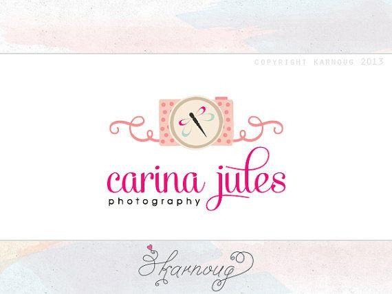 Custom, Premade, Camera, Dragonfly, Logo Design, Photography Logo