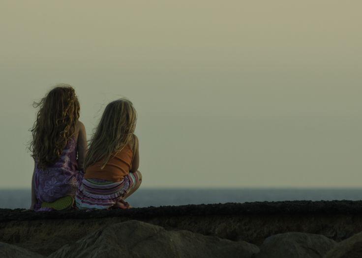 Dana Point California - Little Girls Ombre Sky - Linda Carlin