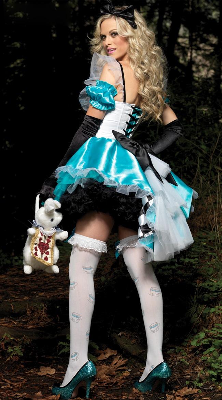 Deluxe Fantasy Alice Costume, Deluxe Alice Costume, Womens Sexy Alice Costumes, #N4418
